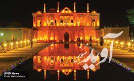 عمارت درخشان ایرانی در باغ فتح آباد کرمان
