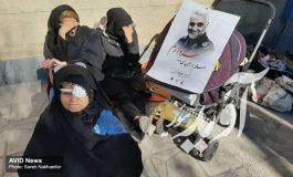 موبایلگرافی خبرنگار آویدنیوز از مراسم خاکسپاری سردار شهید سلیمانی