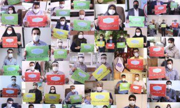 کارکنان اداره کل نوسازی مدارس استان کرمان به پویش #من ماسک می زنم پیوستند